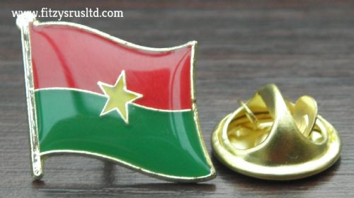 Burkina Faso Flag Lapel Hat Cap Tie Pin Badge Ouagadougou Gift Souvenir - New